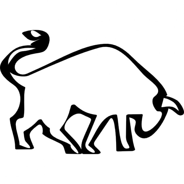 Bull clipart outline. Bulls pencil and in