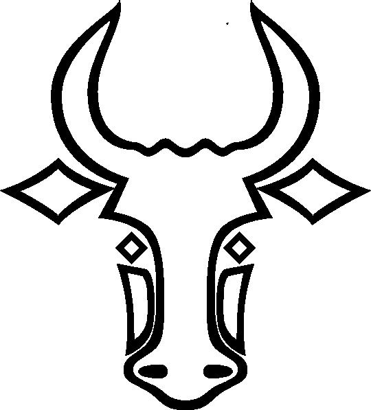 Bull clipart outline. Clip art at clker