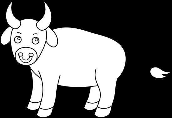 Bull clipart outline. Bulls black and white