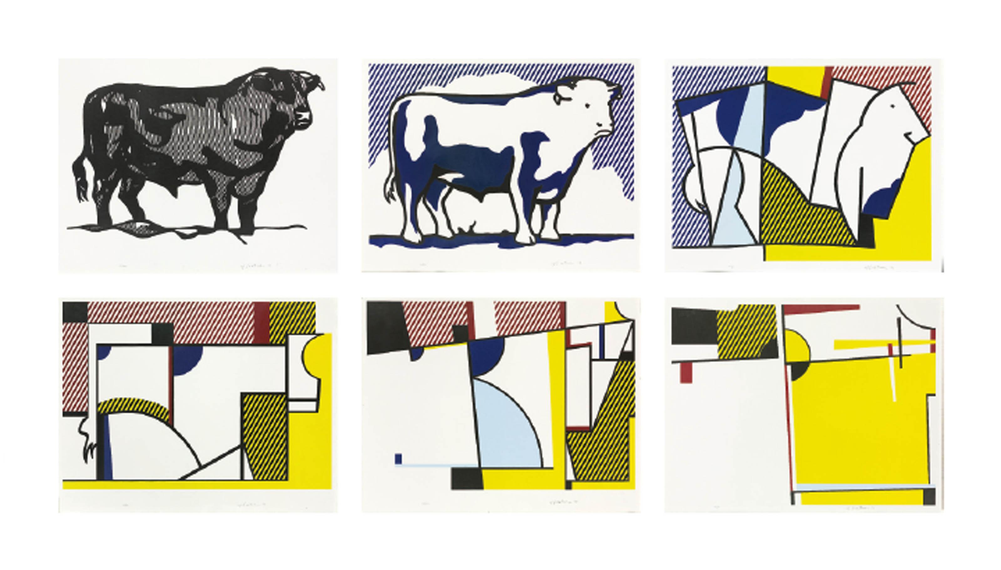 Bull clipart profile. Roy lichtenstein series c