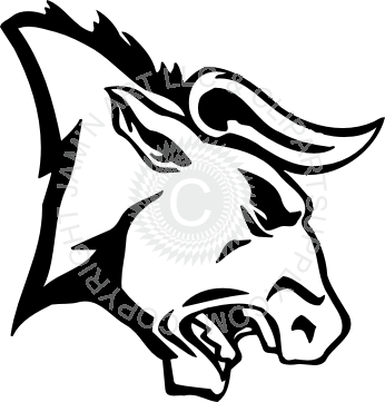 Angry head . Bull clipart profile