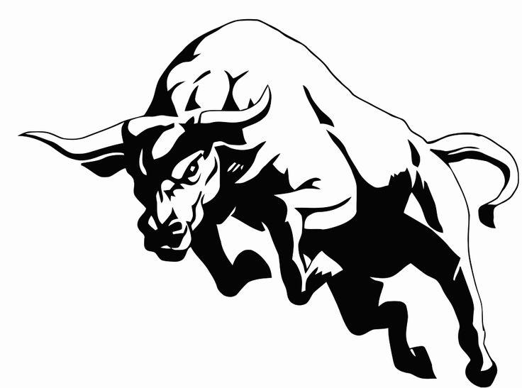 Bull clipart profile. Trading bulls pencil and