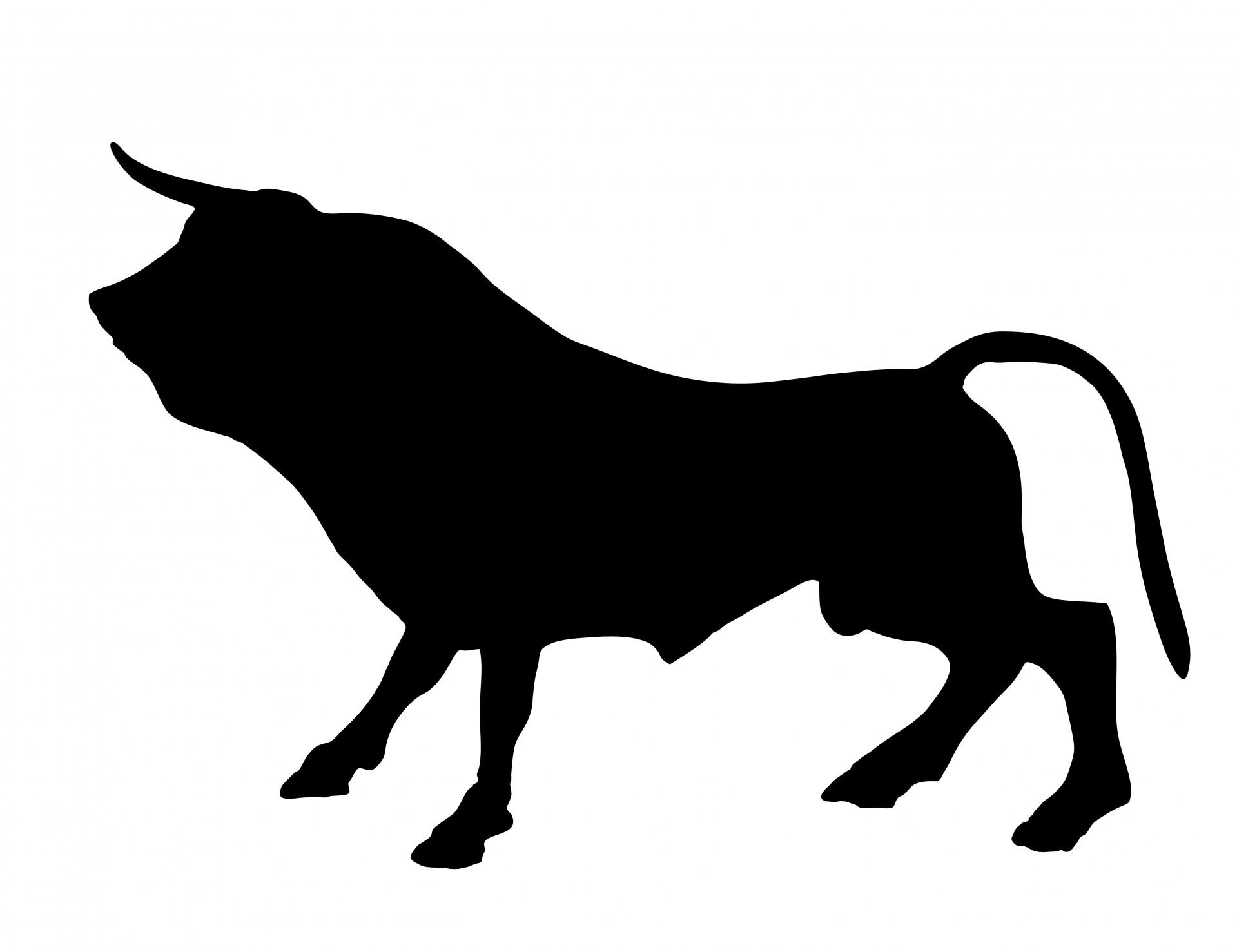 Bull clipart silhouette. Free stock photo public