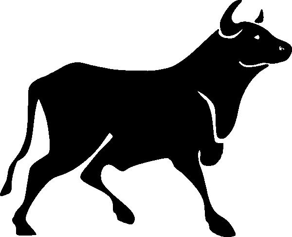 Bull clipart silhouette. Clip art at clker