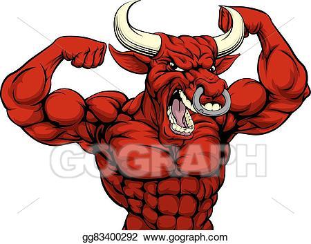 Bull clipart sport. Eps illustration hard sports