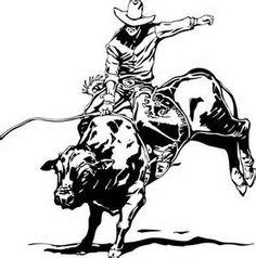Animal riding cowboy horse. Bull clipart sport