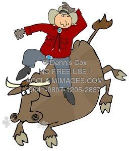 Bull clipart sport. Illustration rider