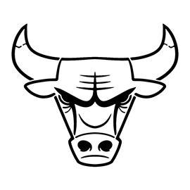 Nba chicago bulls logo. Bull clipart stencil