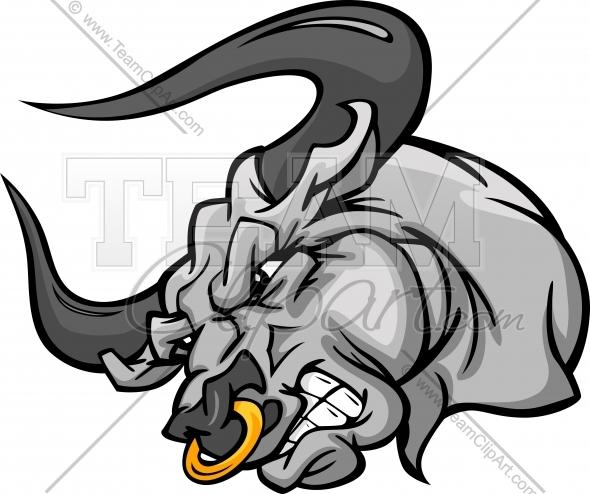 Mascot cartoon image easy. Bull clipart team