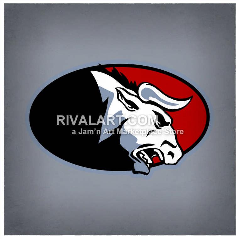 Bull clipart team. Bulls logo graphic digital