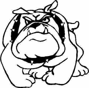 School mascot clip art. Bulldog clipart