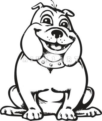 Happy . Bulldog clipart