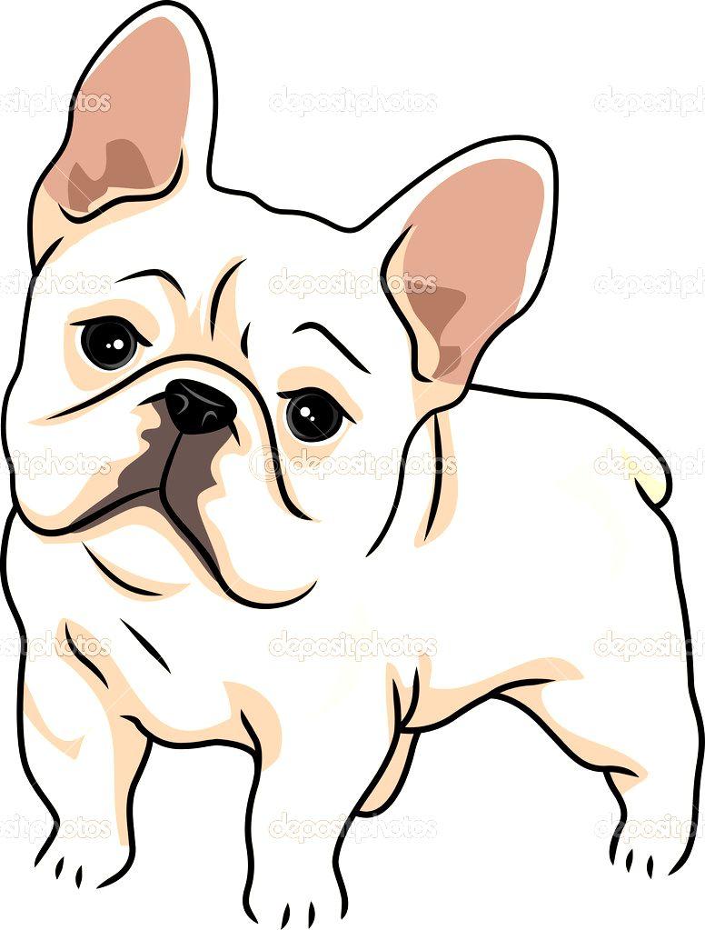 Bulldog clipart. French photo happy dog