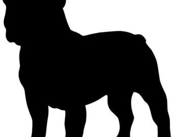Silhouette at getdrawings com. Bulldog clipart american bulldog