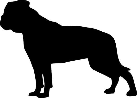 Silhouette images at getdrawings. Bulldog clipart american bulldog