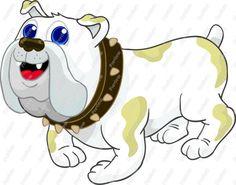 Comic comics and cartoons. Bulldog clipart animated