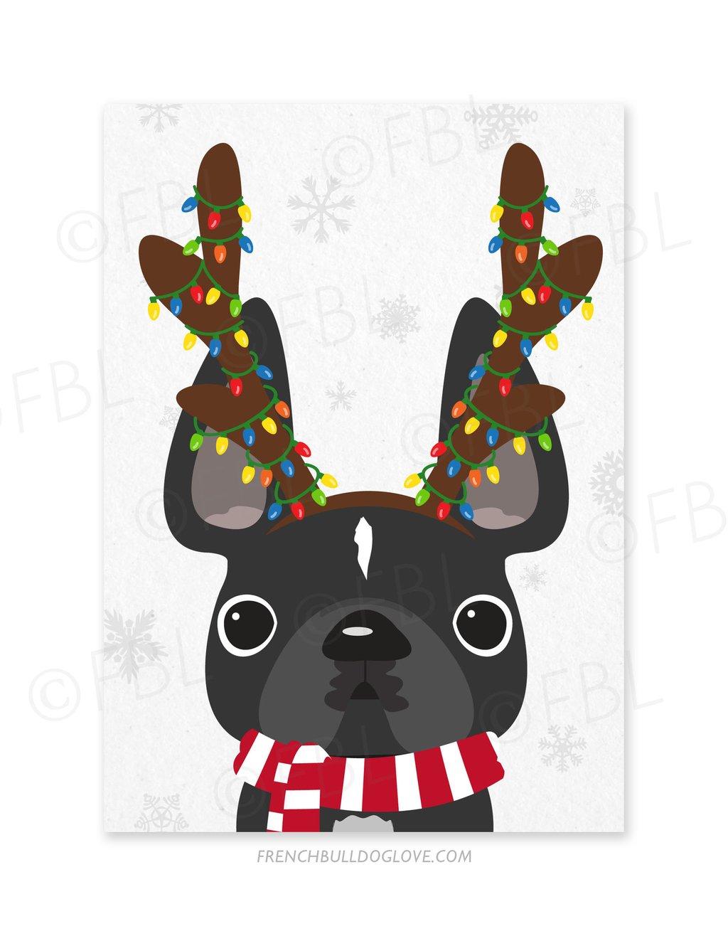 French birthday card free. Bulldog clipart animated