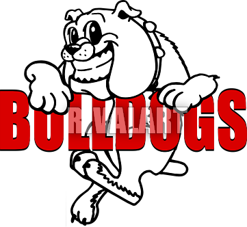 Bulldog clipart animated. Mean standing cliparthut free