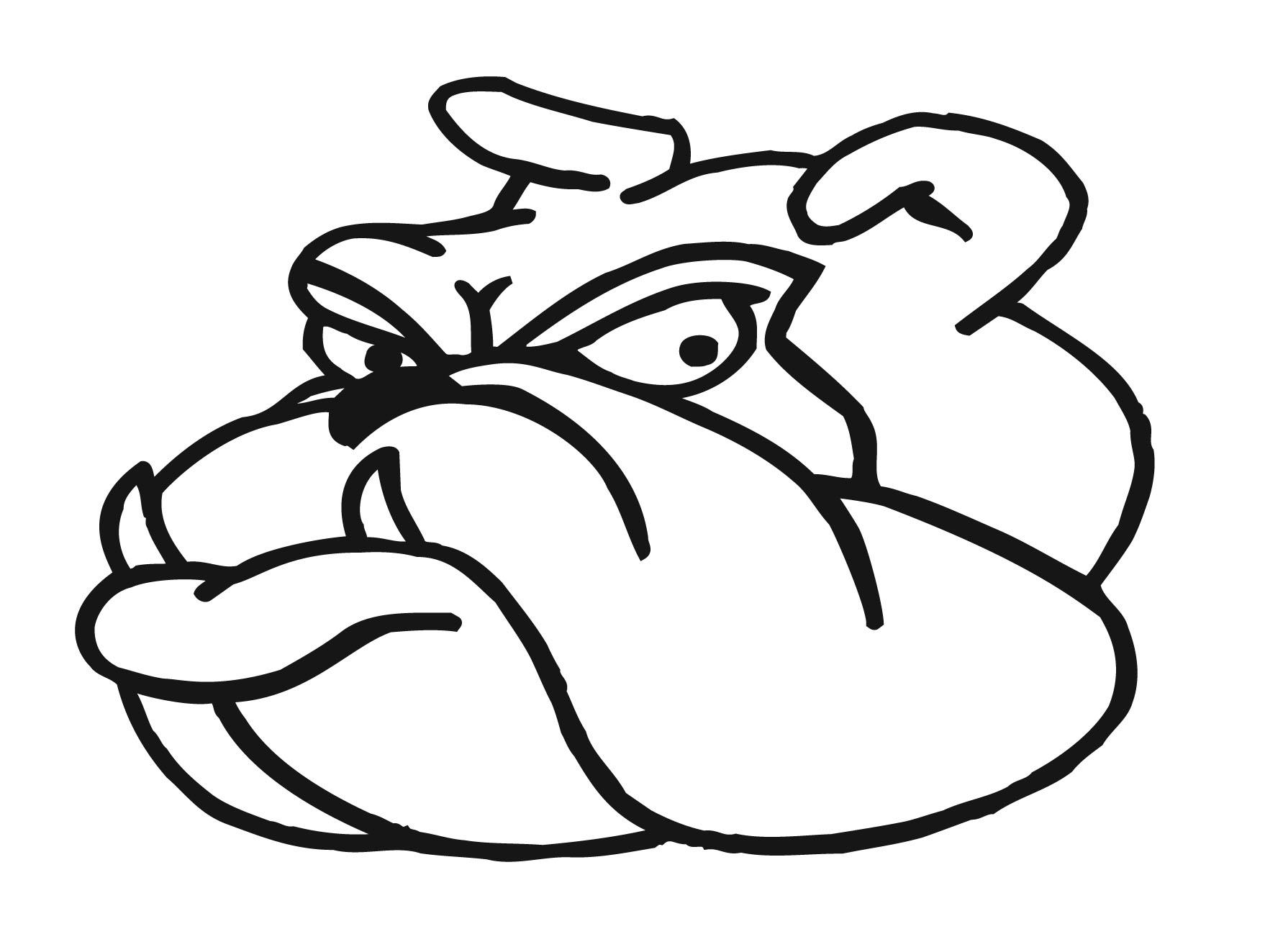 Bulldog clipart animated. Free download clip art