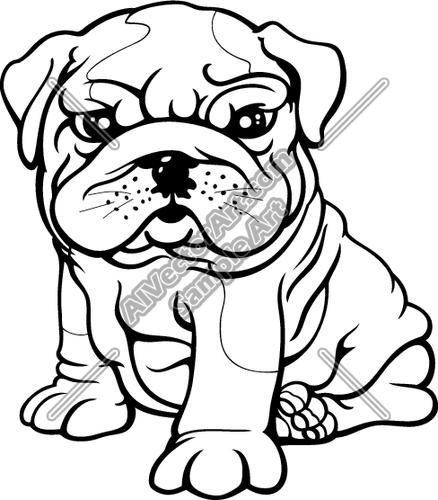 Bulldog clipart baby bulldog. Puppy drawing at getdrawings
