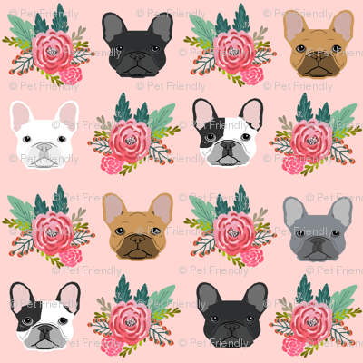 French flowers florals frenchies. Bulldog clipart baby bulldog