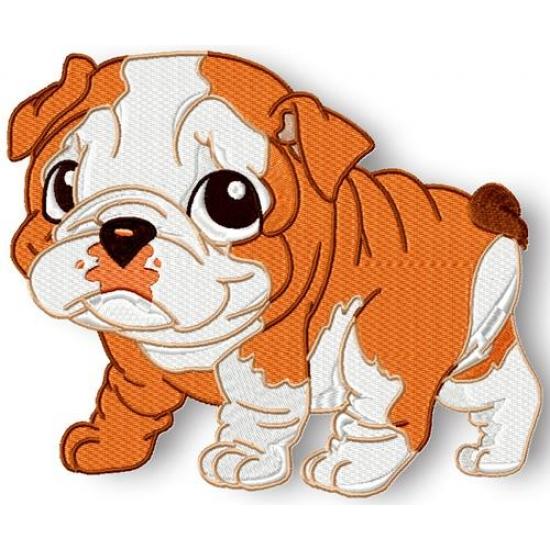 Bulldog clipart baby bulldog. Pamela s embroidery cute