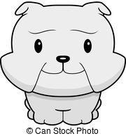 Bulldog clipart baby bulldog. A happy cartoon standing