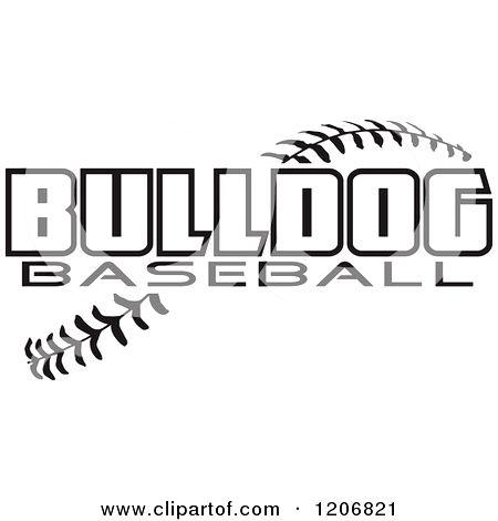 Photo happy dog heaven. Bulldog clipart baseball