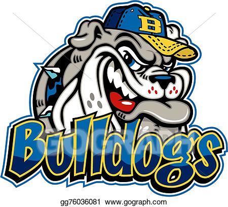 Bulldog clipart baseball. Vector stock mascot clip