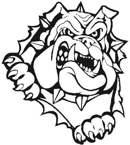 Bulldog clipart black and white. Baseball embroidery pinterest cricut