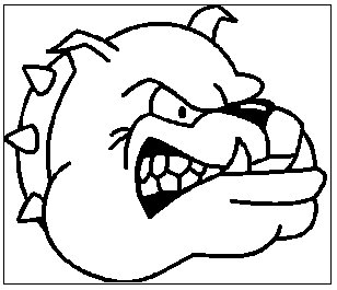 Bulldog clipart black and white. Free images clipartix