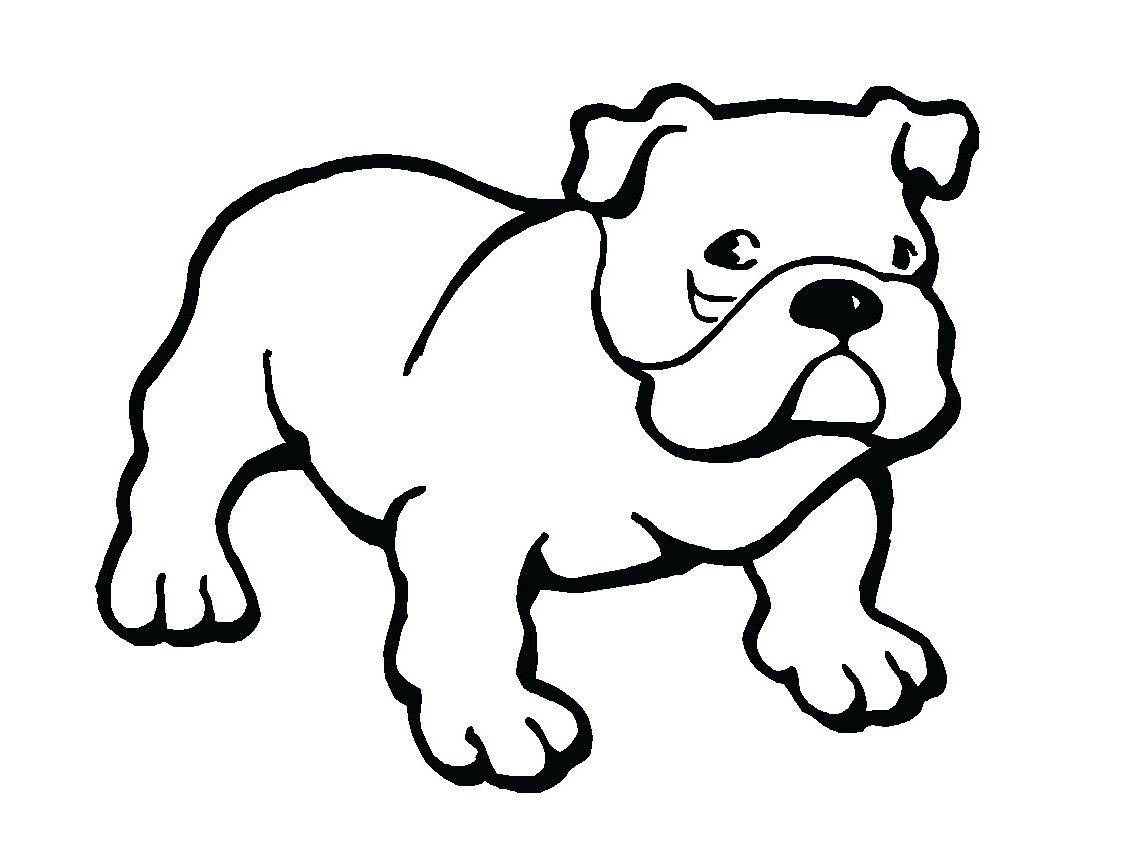 Puppy dots fish best. Bulldog clipart black and white