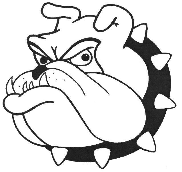Nederland high school images. Bulldog clipart black and white