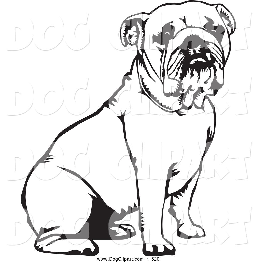Bulldog clipart black and white. Panda free images cutebulldogclipart