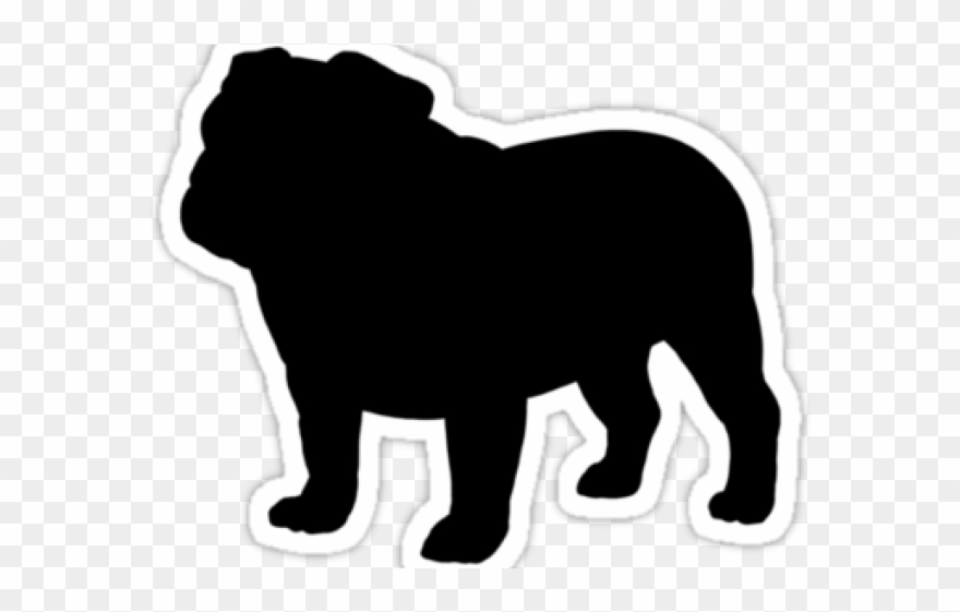 Silhouette . Bulldog clipart english bulldog