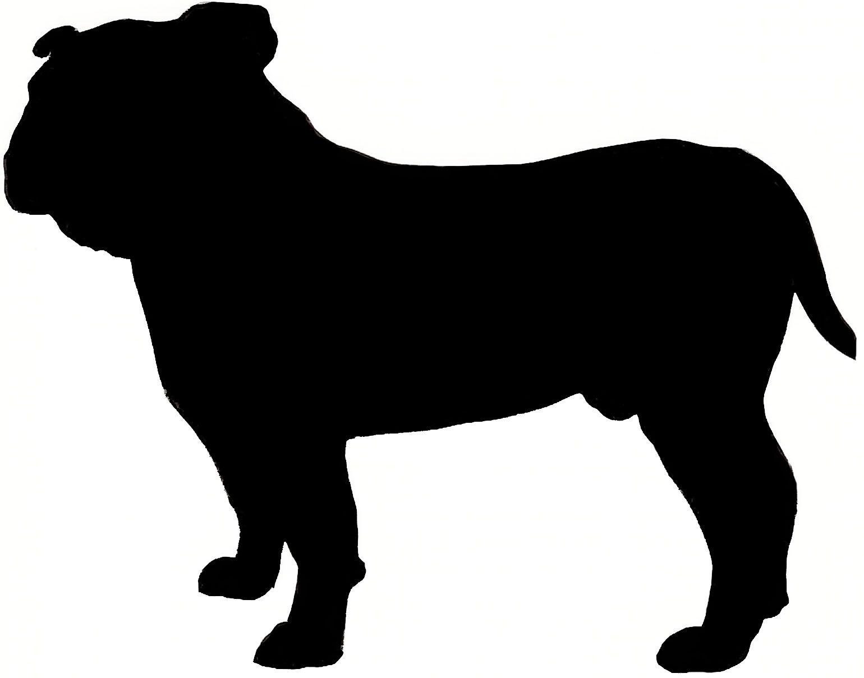 Silhouette craft projects to. Bulldog clipart english bulldog