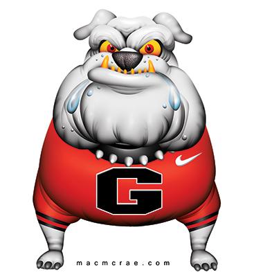 Georgia ga uga cartoon. Bulldog clipart english bulldog