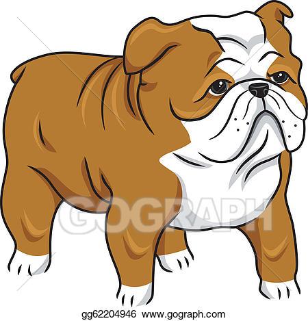 Bulldog clipart english bulldog. Vector illustration gg