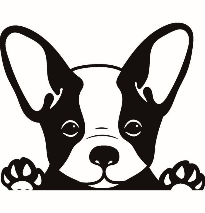 Peeking paws dog breed. Bulldog clipart french bulldog