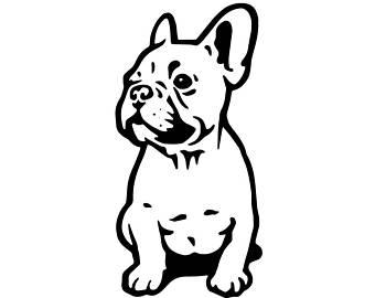 Small dog pencil and. Bulldog clipart french bulldog