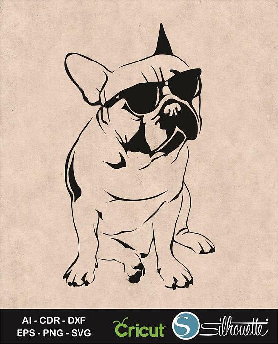 Bulldog clipart french bulldog. Svg silly dog