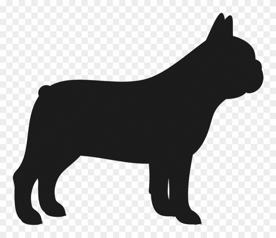 Bulldog clipart pet. Dogs french silhouette transparent