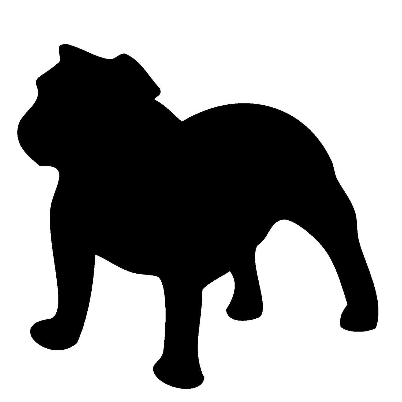 Bulldog clipart pet. English silhouette twylia foreman