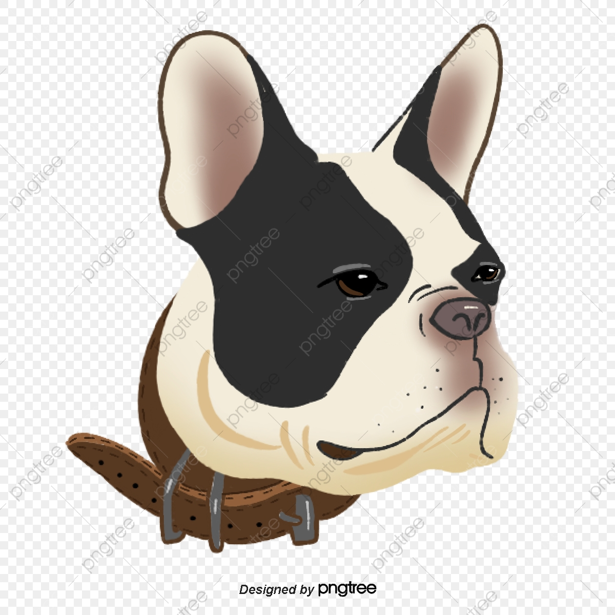 Funny red dogs png. Bulldog clipart pet