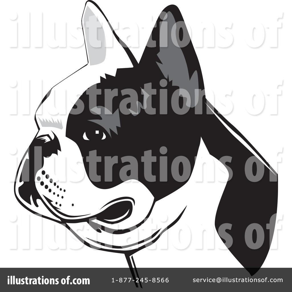 French illustration by david. Bulldog clipart pet