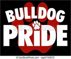 Vector logo stock illustration. Bulldog clipart pride