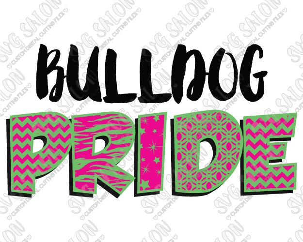 Patterned chevron star zebra. Bulldog clipart pride
