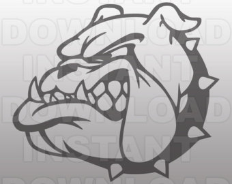 Clip etsy mascot svg. Bulldog clipart sketch