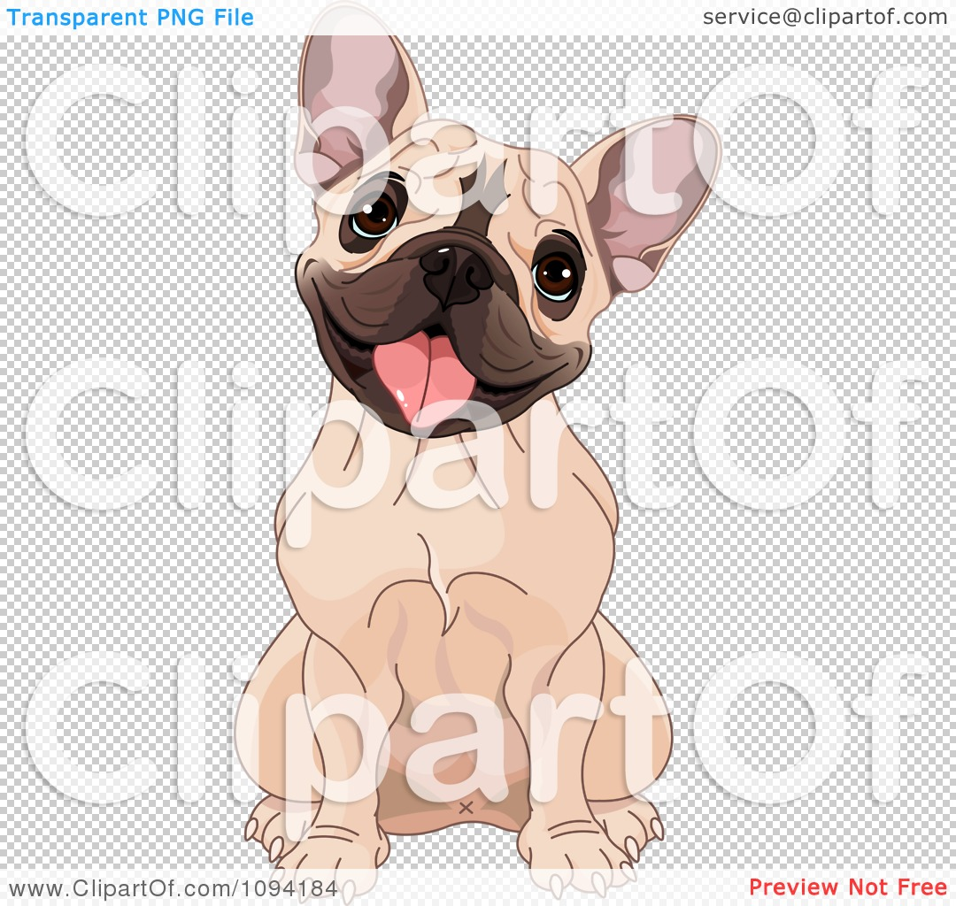 Bulldog clipart sketch. French cute pencil and