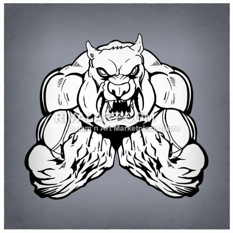 Vicious vector of. Bulldog clipart sketch